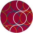rug #893668 | round red circles rug