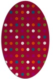 rug #893700   oval red circles rug