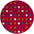 rug #893708   round red circles rug