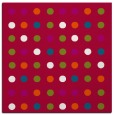 rug #893716 | square red circles rug