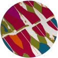 rug #893888 | round red abstract rug