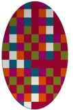 rug #893900 | oval red retro rug