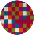 rug #893908 | round red graphic rug