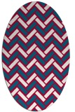 rug #894040   oval red retro rug