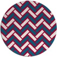 rug #894048 | round red retro rug