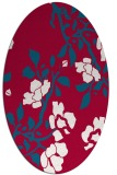 rug #894060 | oval red natural rug