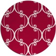 rug #894088 | round red rug