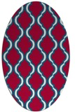 rug #894220   oval red traditional rug