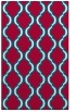 rug #894224 |  red traditional rug
