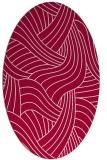 rug #894320 | oval red rug