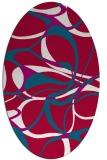 rug #894400 | oval red rug