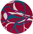 rug #894408 | round red rug