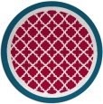 rug #894508 | round red traditional rug