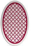 rug #894520 | oval red borders rug