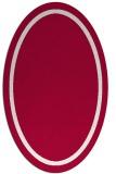 rug #894620   oval plain red rug
