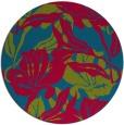 rug #894828 | round blue-green rug