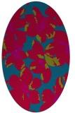 rug #894900 | oval blue-green natural rug