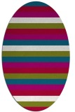 rug #894963 | oval stripes rug