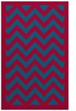 rug #895424 |  blue-green retro rug