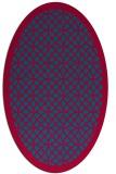 rug #895440 | oval blue-green rug