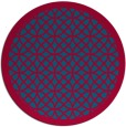 rug #895448 | round blue-green rug