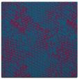 rug #895736 | square blue-green animal rug