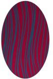 rug #895860 | oval blue-green natural rug