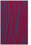 rug #895864 |  blue-green stripes rug