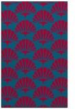 rug #895964 |  blue-green retro rug