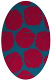 rug #896185 | oval blue-green circles rug