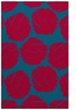 rug #896189 |  blue-green circles rug