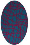 rug #896265 | oval check rug