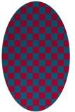 rug #896285   oval check rug