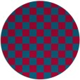 rug #896293 | round blue-green check rug