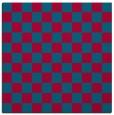 rug #896301   square blue-green check rug