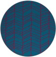 rug #896413 | round blue-green stripes rug