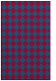 rug #896469    blue-green check rug