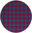 rug #896473 | round blue-green check rug