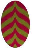rug #896507 | oval stripes rug