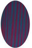 rug #896565 | oval blue-green rug