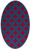 rug #896665 | oval blue-green circles rug