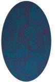 rug #896725 | oval blue-green circles rug