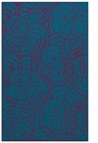 rug #896729 |  blue-green circles rug
