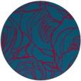 rug #896753 | round blue-green rug