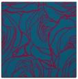 rug #896761 | square blue-green rug
