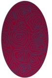 rug #896985 | oval blue-green natural rug