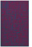rug #897129 |  blue-green retro rug