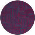 rug #897133 | round blue-green retro rug