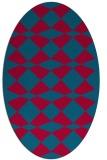 rug #897186   oval check rug
