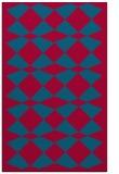 rug #897189 |  blue-green check rug